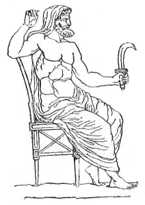 Saturno con l'harpé